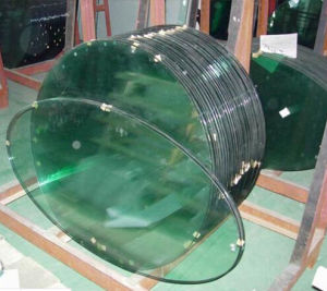 Round, Oval, Rectangle, Curved Dining Table Glass pictures & photos
