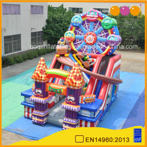2017 Amusement Park Game Sky Wheel Inflatable Slide Playground Children Inflatable Jumping Slide Bouncer for Sale (AQ01799) pictures & photos