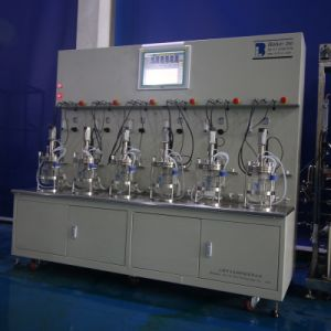Six Union 2 Liters Glass Bioreactor (Double-walled glass jacket wave) pictures & photos