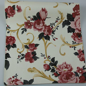 2017 Fashionable Cross Pattern Printed PU PVC Synthetic Decorative Leather pictures & photos