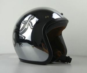 Chrome Open Face Helmet for Motorcycle pictures & photos