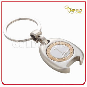 Customized Metal Soft Enamel Logo Trolley Coin Key Chain pictures & photos