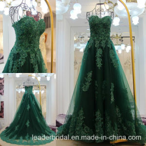 Green Tulle Lace Gown Real Prom Party Evening Dresses Z5069 pictures & photos
