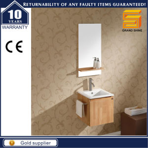 Sanitary Ware Melamine Wooden Lighted Bathroom Vanity Cabinet pictures & photos