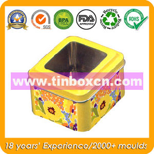 PVC Window Tin Box for Promotion, Metal Tin Cans pictures & photos
