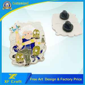 Professional Custom Matte Nickel Plated Metal Enamel Pins with Free Design pictures & photos