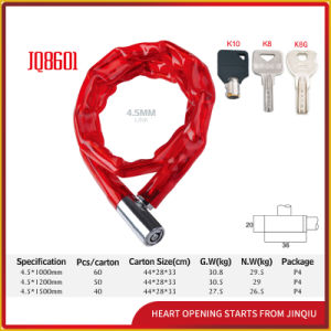 Jq8601high Quality Bicycle Lock Motorcycle Chain Lock for Mountain Bike pictures & photos