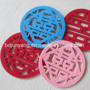 Good Quality Round Rubber Felt Coaster pictures & photos