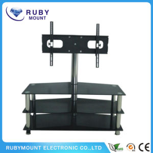 Black Corner TV Stand Big Screen Media Stand pictures & photos