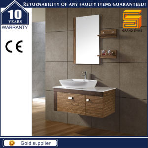 Modern Design Melamine Wooden Wall Mounted Bathroom Vanity Cabinet pictures & photos