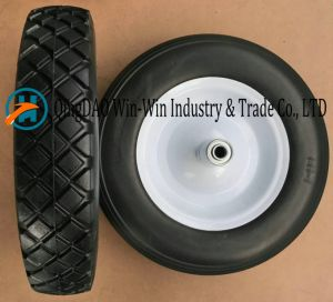 Flat-Free PU Wheel for Wheel Barrow Wheel (3.50-8) pictures & photos
