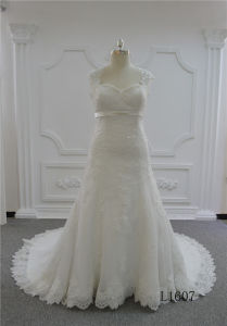 Sweetheart Mermaid Wedding Dresses Long Ivory Lace Wedding Dress pictures & photos