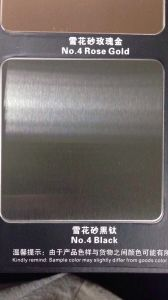 201 304 316 Metal Sheet Stainless Steel Sheet with Satin Colored for Decoration pictures & photos