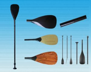 Bamboo Veneer Surface Full Carbon Paddle for Sup Board