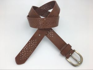 New Fashion Cut out Design Belt for Women (YF-065 Brown)