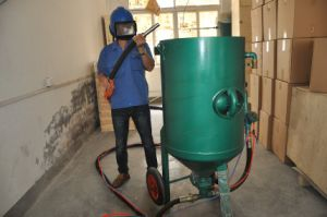Portable Manual Control Sand Jet Sand Blasting Machine pictures & photos