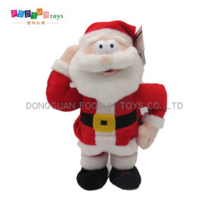 2017 New Product Plush Toy Electrical Musical Stuffed Christmas Santa Toy