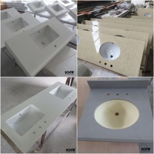 Artifical Stone Solid Surface Bathroom Lowes Vanity Tops pictures & photos