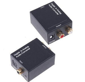 Digital Optical Toslink Coaxial to Analog Audio 3.5mm Converter pictures & photos