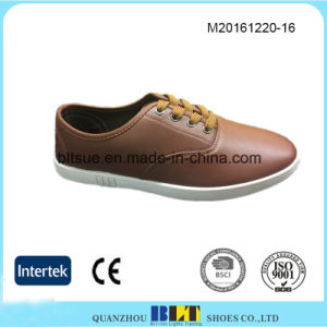 PU Upper PVC Outsole Men′s Casual Shoes pictures & photos