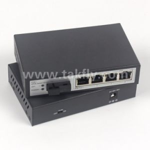 Vlan 4 Port 100m 155m Poe Ethernet Switch pictures & photos