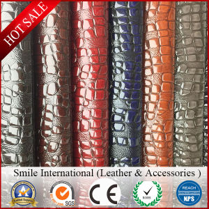 High Light Double Color PVC Leather for Hags Hot Sales Artificial Leather pictures & photos