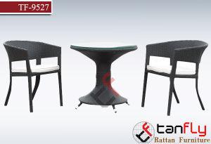 Outdoor and Indoor Wicker Weaving Chair and Tea Table
