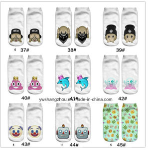 Europe New Factory 3D Animal Printed Cartoon Custom Boat Socks pictures & photos