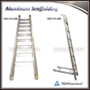 Double Width Aluminum Mobile Scaffold with Stair pictures & photos