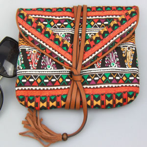 Boho Print and Floral Pattern Wallet Cotton Canvas Purse for Women pictures & photos
