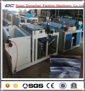 Non Woven Ultrasonic Embossing Automatic Cutting Machine with Slitting Knives (DC-HW) pictures & photos