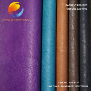 Garment PU Leather with Embossed Surface Faz Y137 pictures & photos