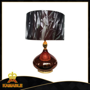Modern Simple with Fabric Shade Glass Base Table Lamp (MK16-P1048) pictures & photos
