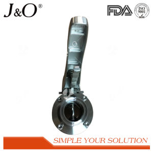 Sanitary Clamp Ends Butterfly Valve with Ss Handle pictures & photos