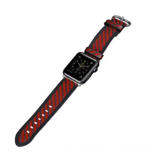 Luxury Bands Man Carbon Fiber Watch Bands Leather Thin Charm in Carbon Fiber Fitness Bands pictures & photos