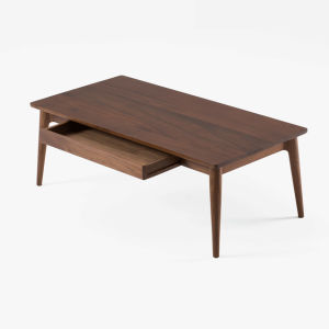 Bay-Max Americian Oak Walnut Solid Wooden Tea Coffee Square End Table pictures & photos