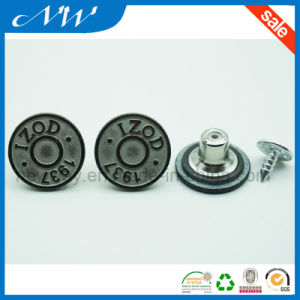 Stylize Metal Zinc Alloy Shank Button for Jeans