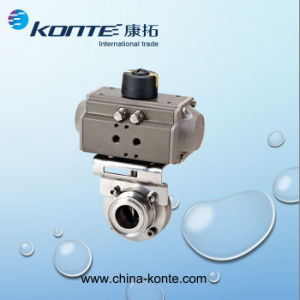 Saintary Welding Double Acting Pneumatic Butterfly Valve pictures & photos