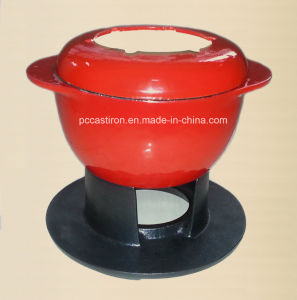 Enamel Cast Iron Cheese Fondue China Supplier pictures & photos