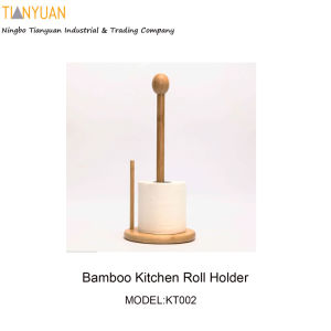 Bamboo Kitchen Roll Holder, Bamboo Kitchen Tissue Holder pictures & photos