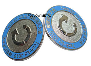 Round Badge for Gold Plated with Sandblast in Recessed Area pictures & photos