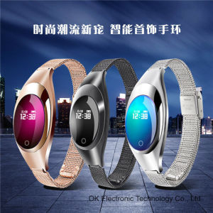 2017 New! jewelry Z18 Android Blood Heart Rate Woman Smart Bracelet pictures & photos