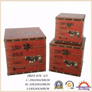 The Farm Dairy Pattern Print Suitcase Jewelry Box Gift Box for Storage and Decoration pictures & photos
