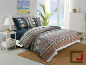 Microfiber Filling Custom Printed Ultrasonic Quilt pictures & photos