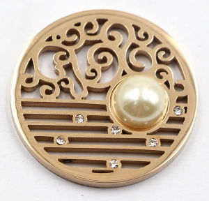 High Quality 316L Stainless Steel Coin Plate with Pearl pictures & photos