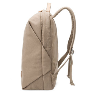 New Design Khaki Color Waterproof Laptop Canvas Backpack Racksack Bag pictures & photos