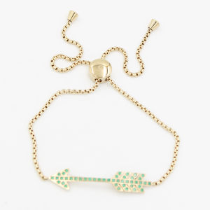 Arrow Charm Bracelet with Adjustable Chains - Birthday Stone Color Avaialable pictures & photos