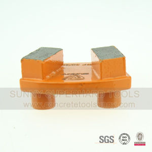 2 Pins Concrete Diamond Grinding Segment with Pin for Prep/Master Grinders pictures & photos