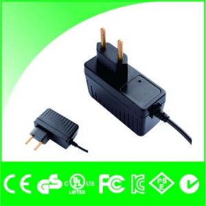 Brazil Plug 12V 1A with Cable Power Swtiching Adapter pictures & photos