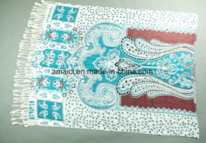 Muslim Printed Machine Flat Bed Printed Acrylic Shawl (ABF22004013) pictures & photos